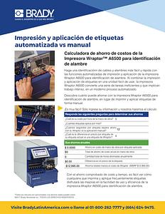 Calculadora de costos de Wraptor A6500