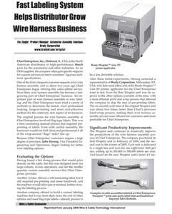 "wraptorâ""¢ wire id printer helps distributor grow wire harness wraptorâ""¢ wire id printer helps distributor grow wire harness business"