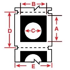 Raised Profile Labels for BBP3x Printers-B30EP-167U-593-BK