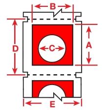 Raised Profile Labels for BBP3x Printers-B30EP-167U-593-RD