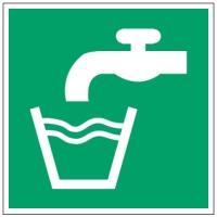 ISO Sicherheitskennzeichnung - Trinkwasser-PIC E015-100x100-PE-ROLL/1