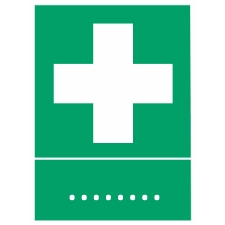 Emergency & First Aid Signs with Text