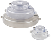 Gate Valve Lockout Set - Transparent-GVLO-SET-TRANS