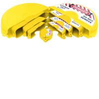 Our sets include 1 off each size Yellow, Gate Valve Lockouts to fit Gate Valves from 25 mm to 330 mm in Red