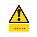 Sicherheitskennzeichnung mit Text