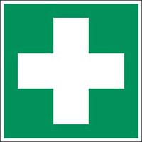Das Rettungszeichen ist das Sicherheitszeichen, das den Ausgang, den Notausgang, den Weg zum nächtsten Hilfsdienst oder zur Ambulanz zeigt. Dieser Typ von Sicherheitszeichen und Piktogrammen ist wichtig, weil sie die Erste Hilfe oder Evakuierung bei einem