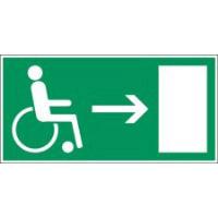 Minipiktogramme: Brandschutz - Rettungsweg für Behinderte (rechts)
