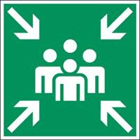 Minipiktogramme: Brandschutz - Sammelstelle