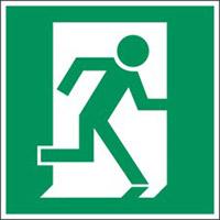 Minipiktogramme: Brandschutz - Fluchtrichtung links