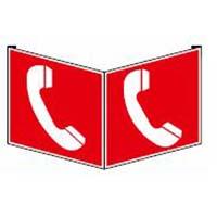 Fahnen- und Winkelschilder - Brandmeldetelefon
