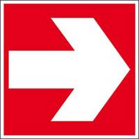 Brandschutzkennzeichnung - Richtungspfeil-PIC 405-148*148-B7525