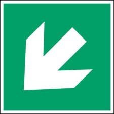 ISO Sicherheitskennzeichnung - Richtungsangabe gerade-PIC A045-400x400-PE-CRD/1