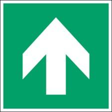 ISO Sicherheitskennzeichnung - Richtungsangabe gerade-PIC A090-100x100-PE-CRD/1