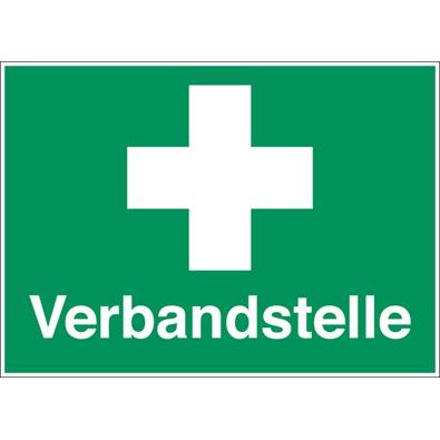 Rettungszeichen: für Erste - Hilfe Einrichtungen Verbandstelle