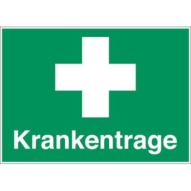 Rettungszeichen: für Erste - Hilfe Einrichtungen: Krankentrage