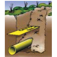 Detectable Underground Warning Tape Detectable Wave