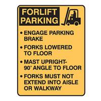 Forklift Safety Sign Forklift Parking Engage Parking