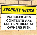 Security Signs & Labels