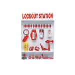 Lockout/Tagout-stations voor wandmontage met open voorzijde