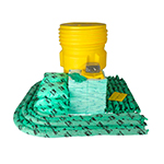 Kit per sversamenti con fusto Overpack da 360 litri