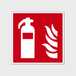 Brandbestrijdingspictogrammen zonder tekst