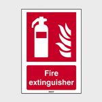 Brandbestrijdingspictogrammen met tekst