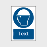 Mandatory Safety Signs with text