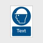 Segnaletica di sicurezza/obbligo con testo