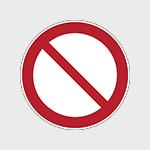 Panneaux d'interdiction avec texte