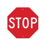 Señalamientos de alto y de control de tráfico