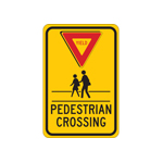 Señalamientos de peatones y vías peatonales