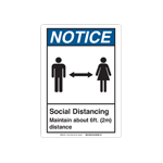 Social Distancing Wall Signs