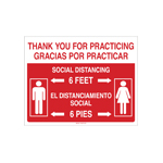 Social Distancing Bilingual and Spanish Signs