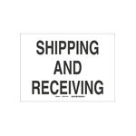 Shipping, Receiving and Dock ID Signs