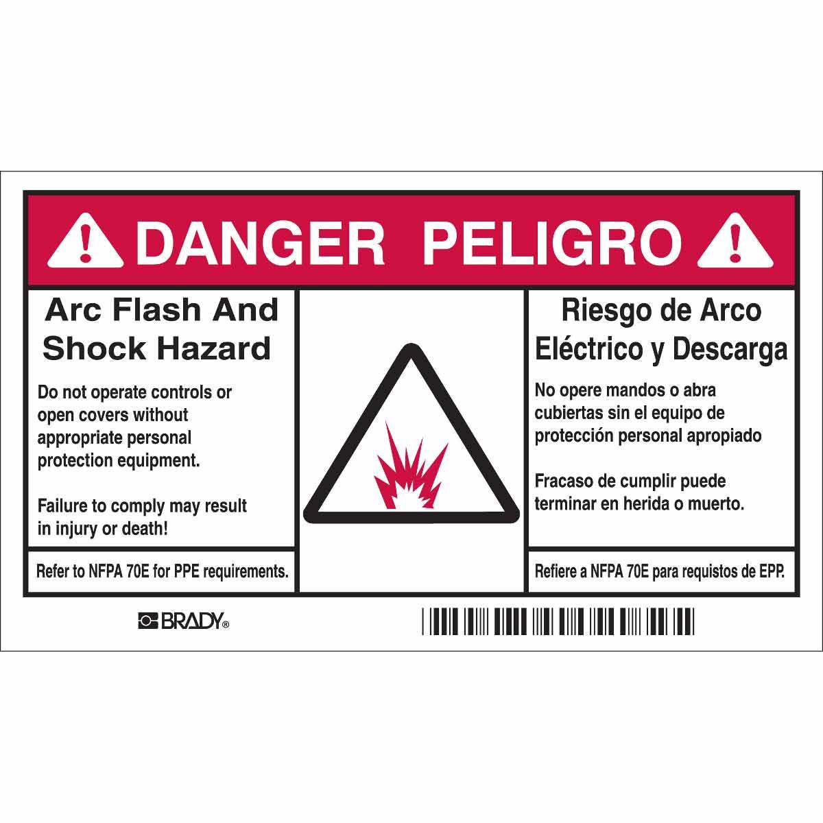 Brady Part 102312 B302 35x6 Blk Red W 100 Rl Flashshock Admittance Triangle For A Parallel Rlc Circuit