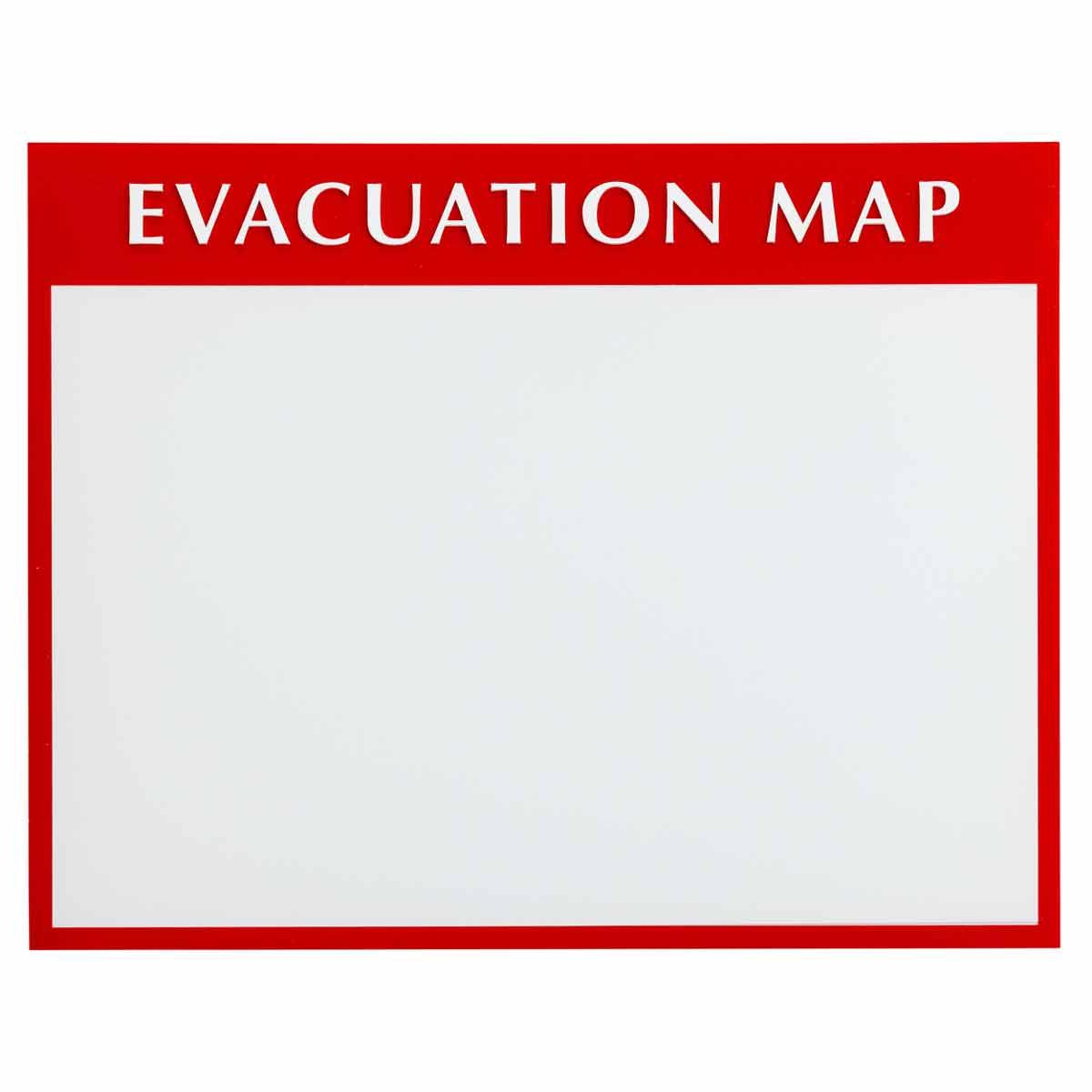 Brady part 102849 evacuation plan insert holder bradyid pronofoot35fo Images