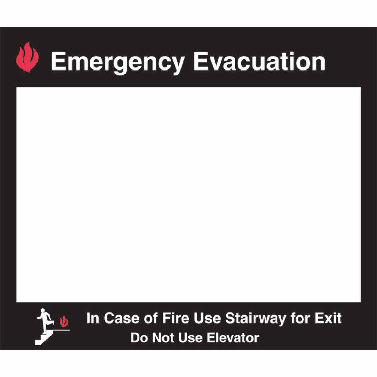 Brady part 102856 emergency evacuation map holder bradyid pronofoot35fo Images