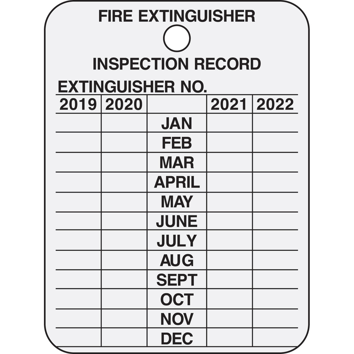 image relating to Printable Fire Extinguisher Inspection Tags named Fireplace Extinguisher Inspection History 4 Many years