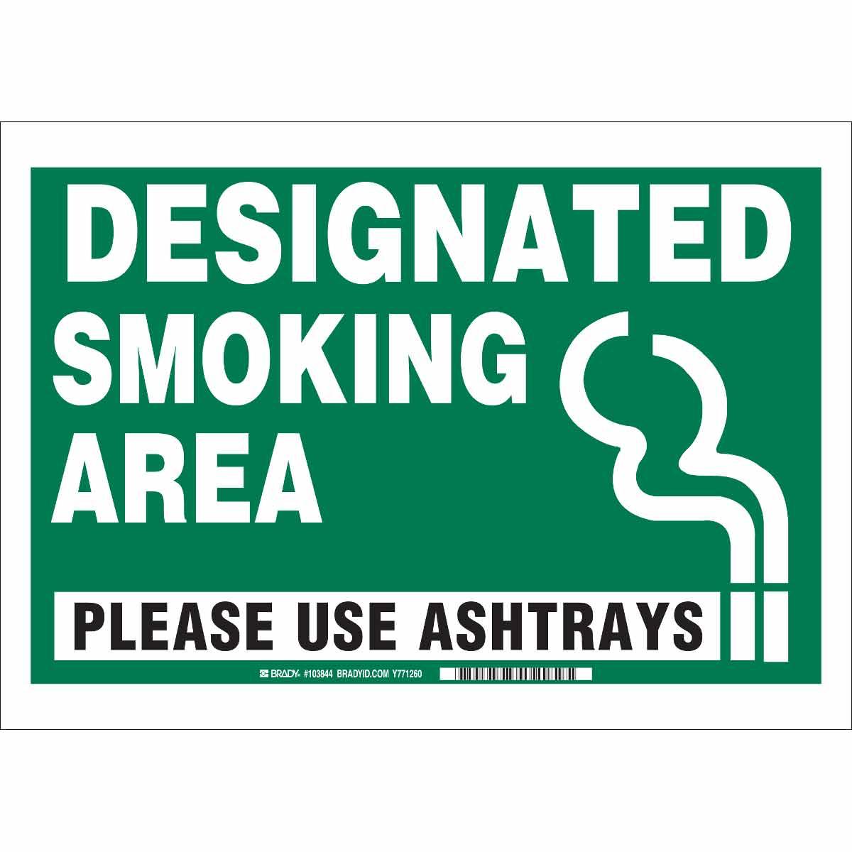 Brady Part 103844 Designated Smoking Area Please Use Ashtrays Sign Bradyid Com,Nursing School T Shirt Designs