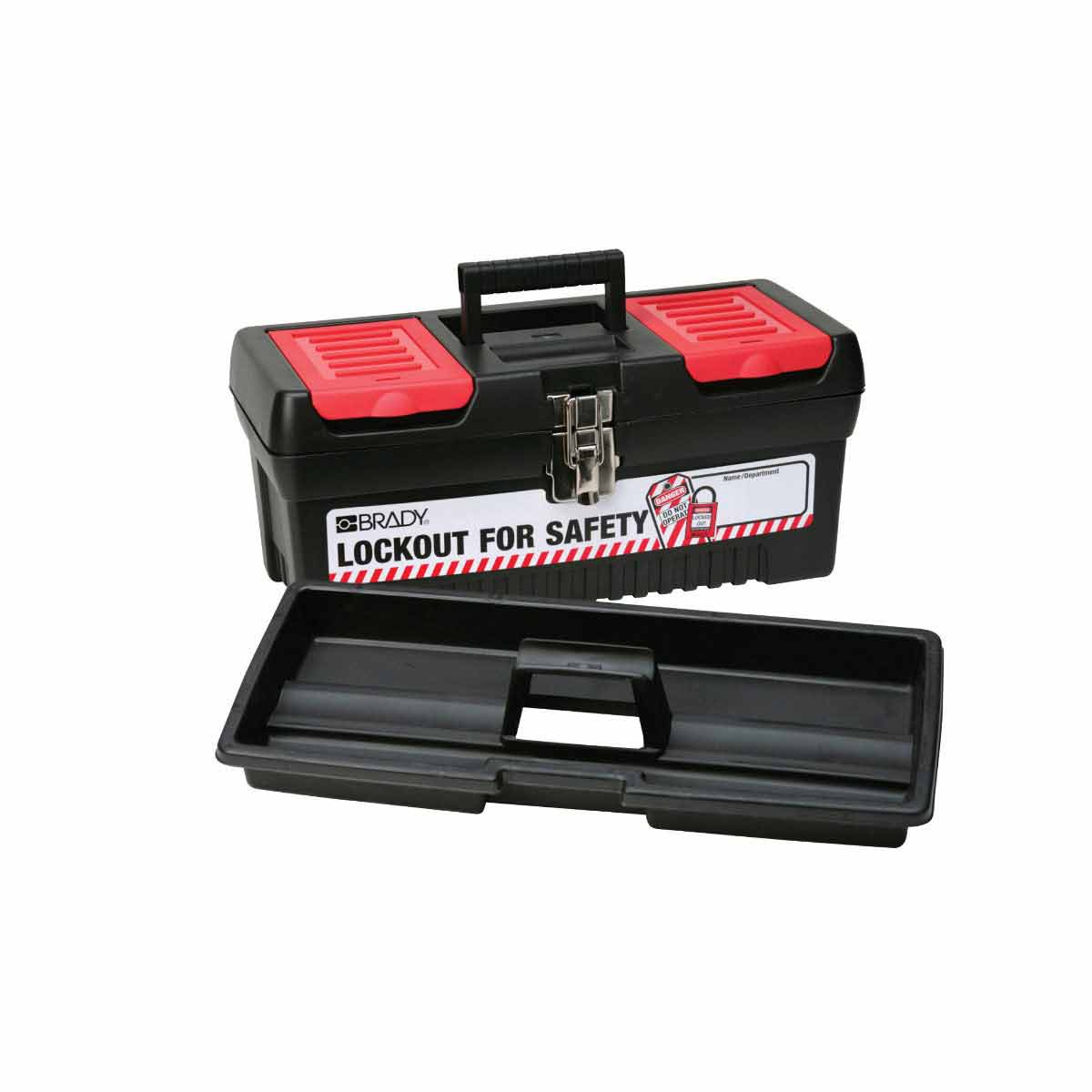BRADY 105906 Lockout For SafetyTool Box-Medium