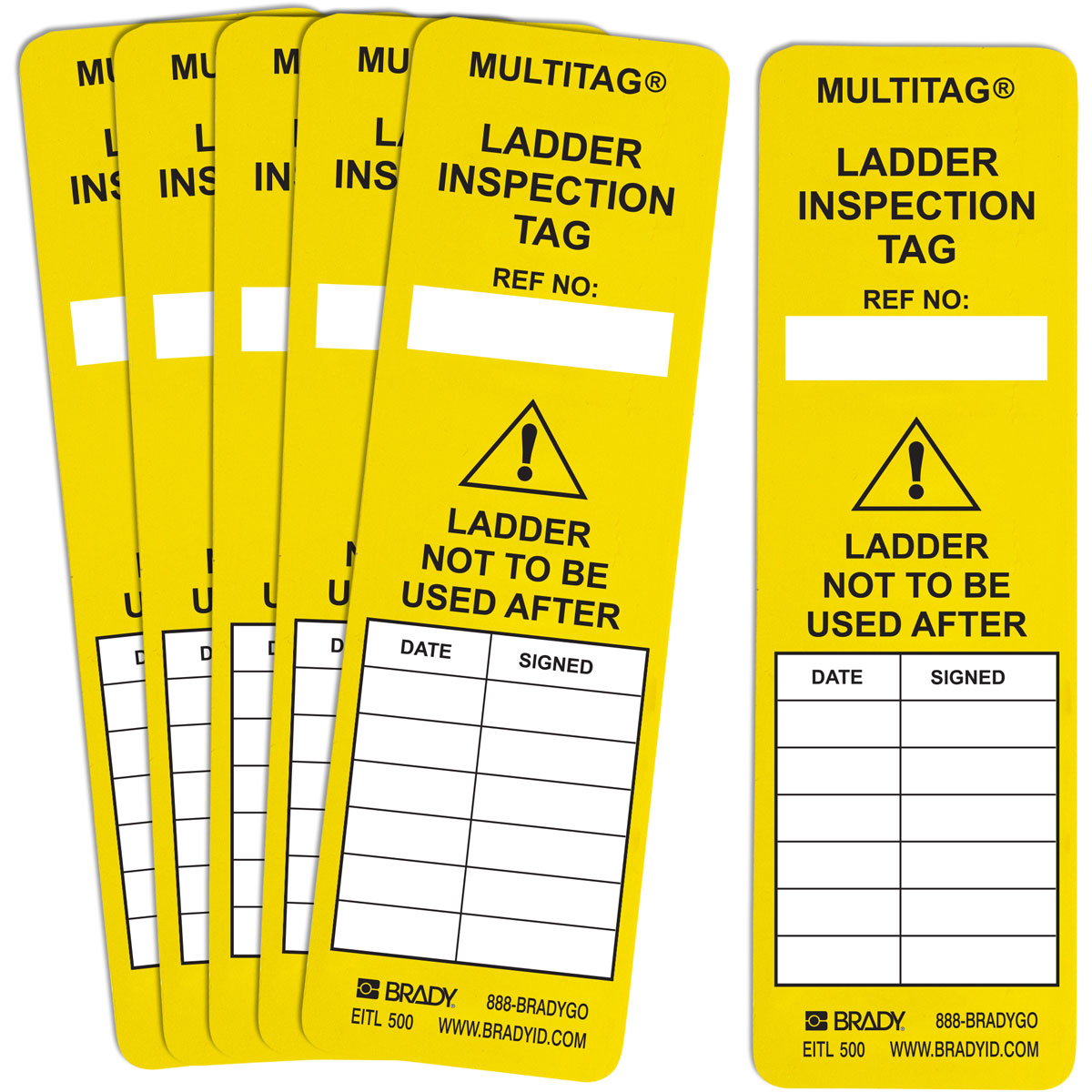 Brady Part Lad Eitl 500 107937 Laddertag Inserts Multitag