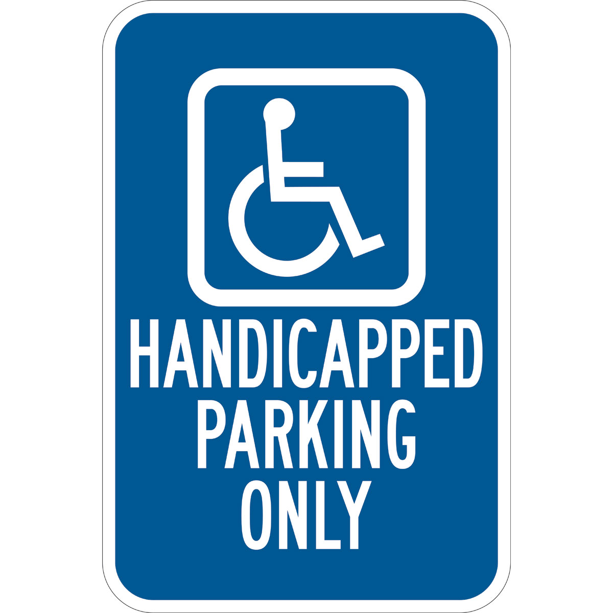 classic shoes buy popular brand Handicap Parking Only Sign