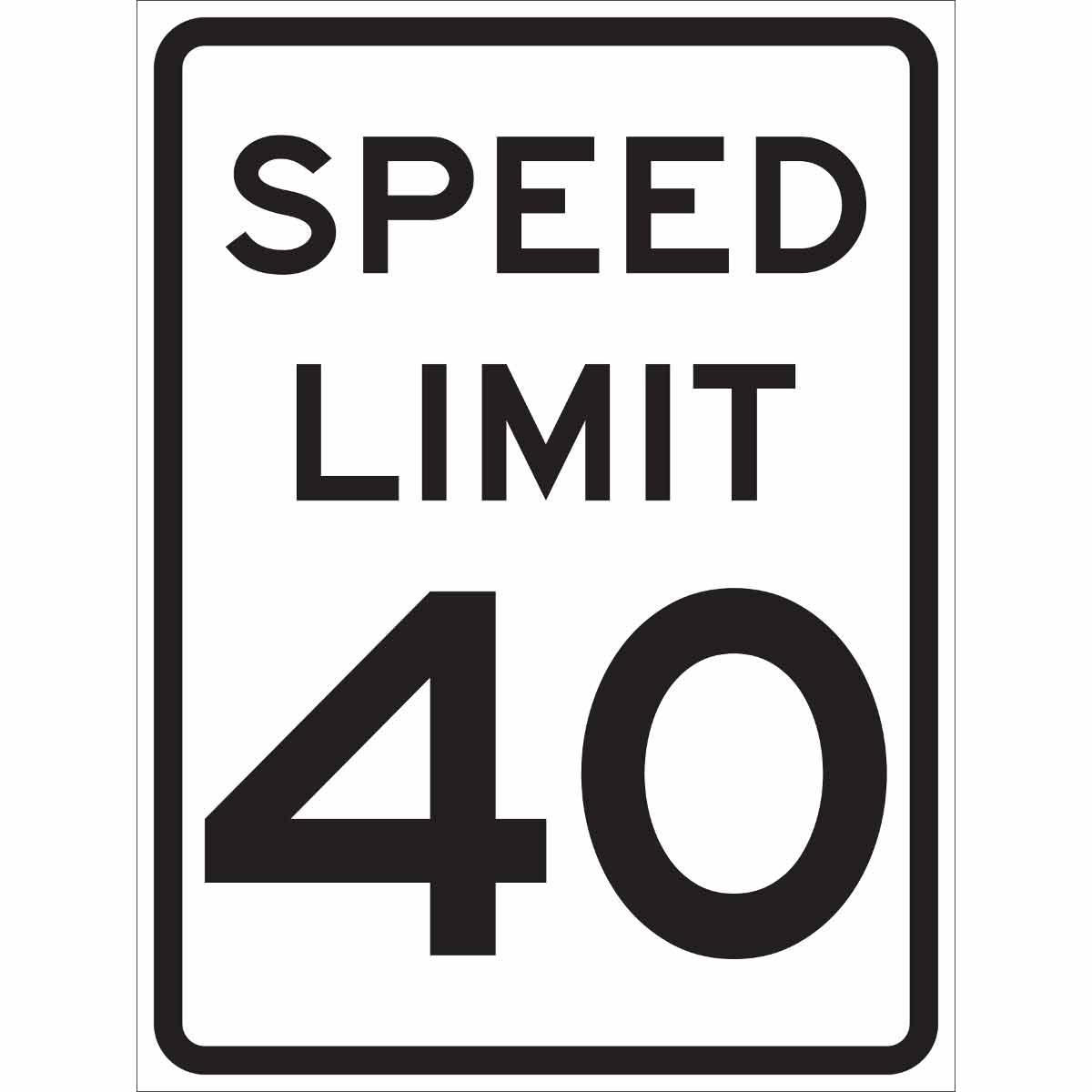 Speed Limit 40 Sign