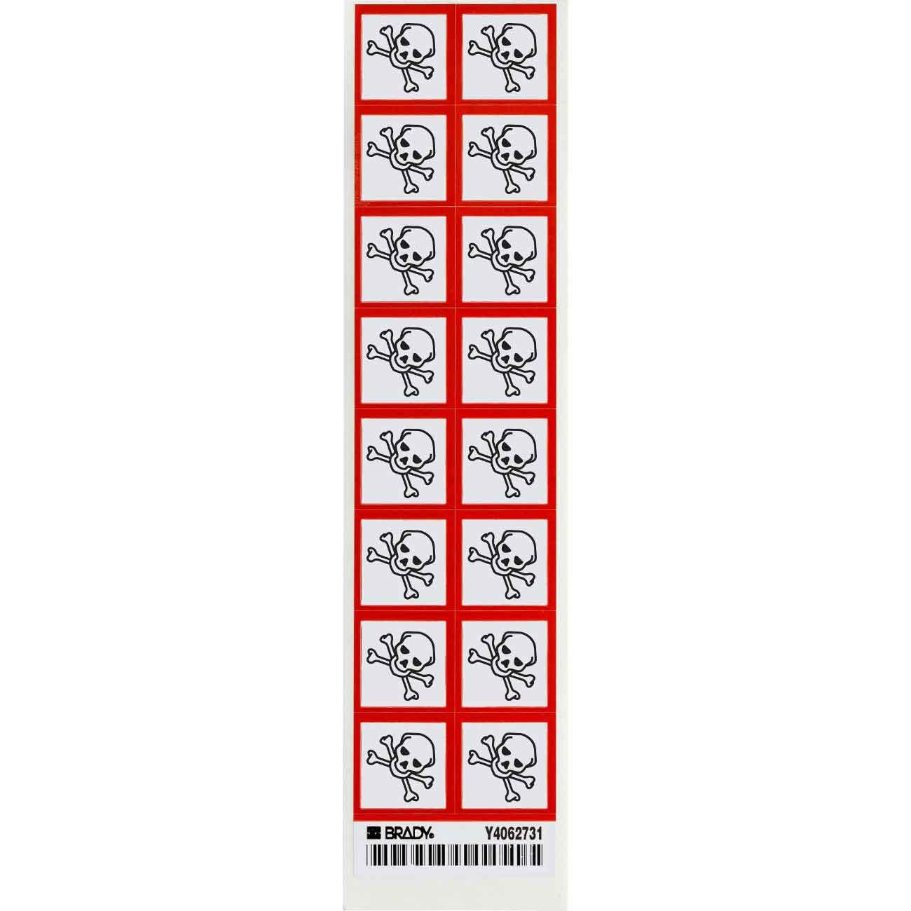 Brady Part 118846 Severe Toxic Hazard Symbol Ghs Labels Bradyid
