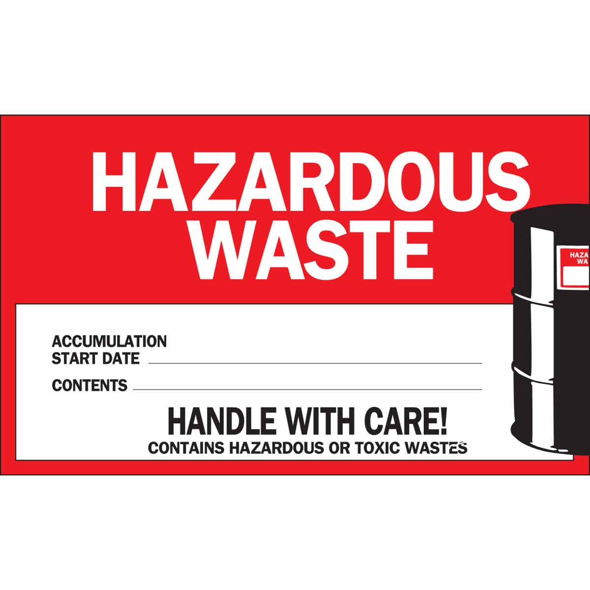 picture regarding Free Printable Hazardous Waste Labels identified as Damaging Squander ACCUMULATION Commence Day CONTENTS Labels