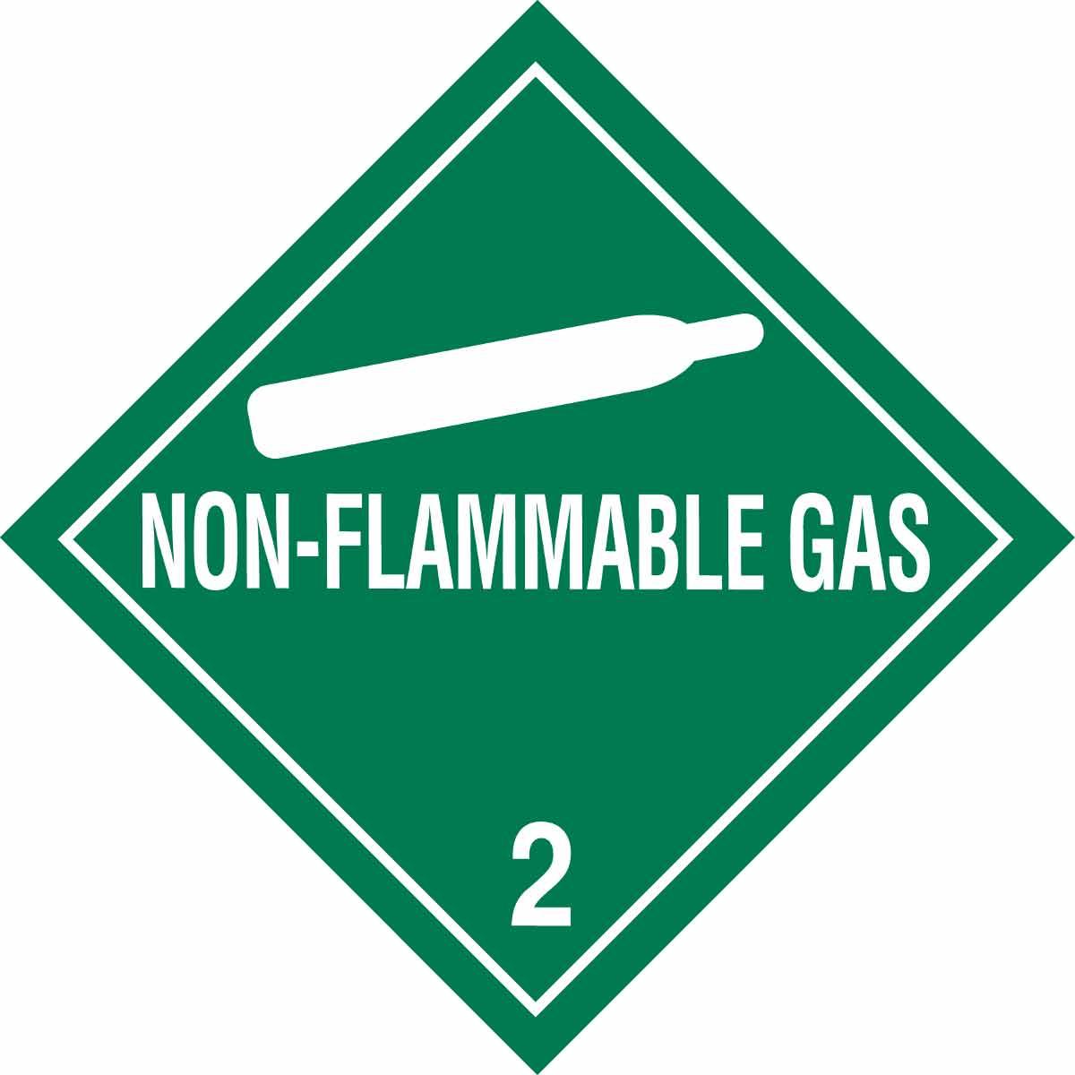Brady Part 121065 Non Flammable Gas 2 Hazardous