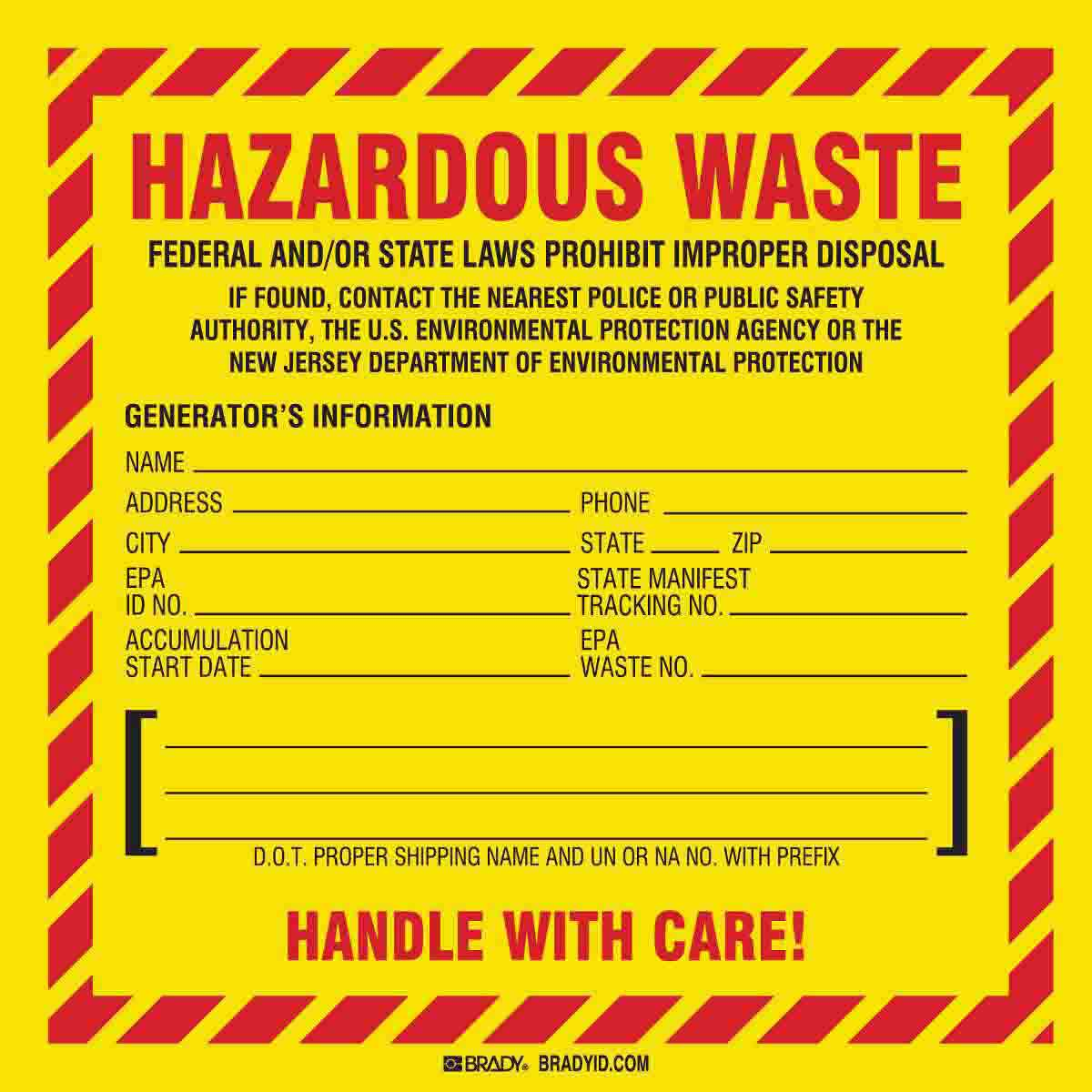 HAZARDOUS WASTE FEDERAL AND/OR STATE