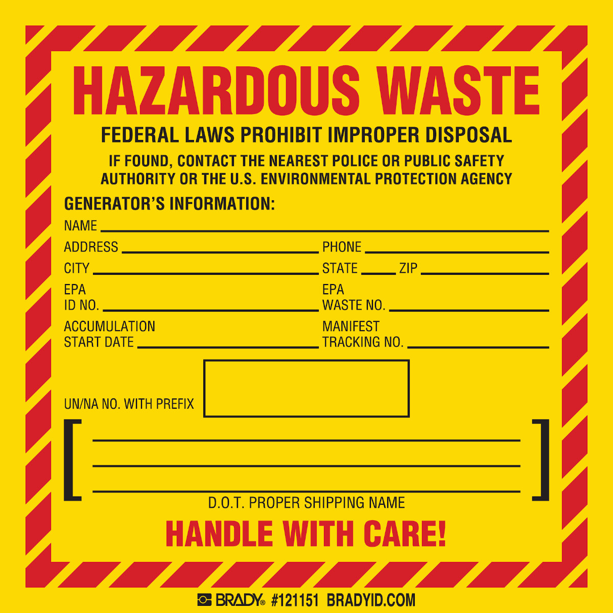 HAZARDOUS WASTE FEDERAL LAWS PROHIBIT IMPROPER DISPOSAL IF FOUND, CONTACT  THE NEAREST… Labels