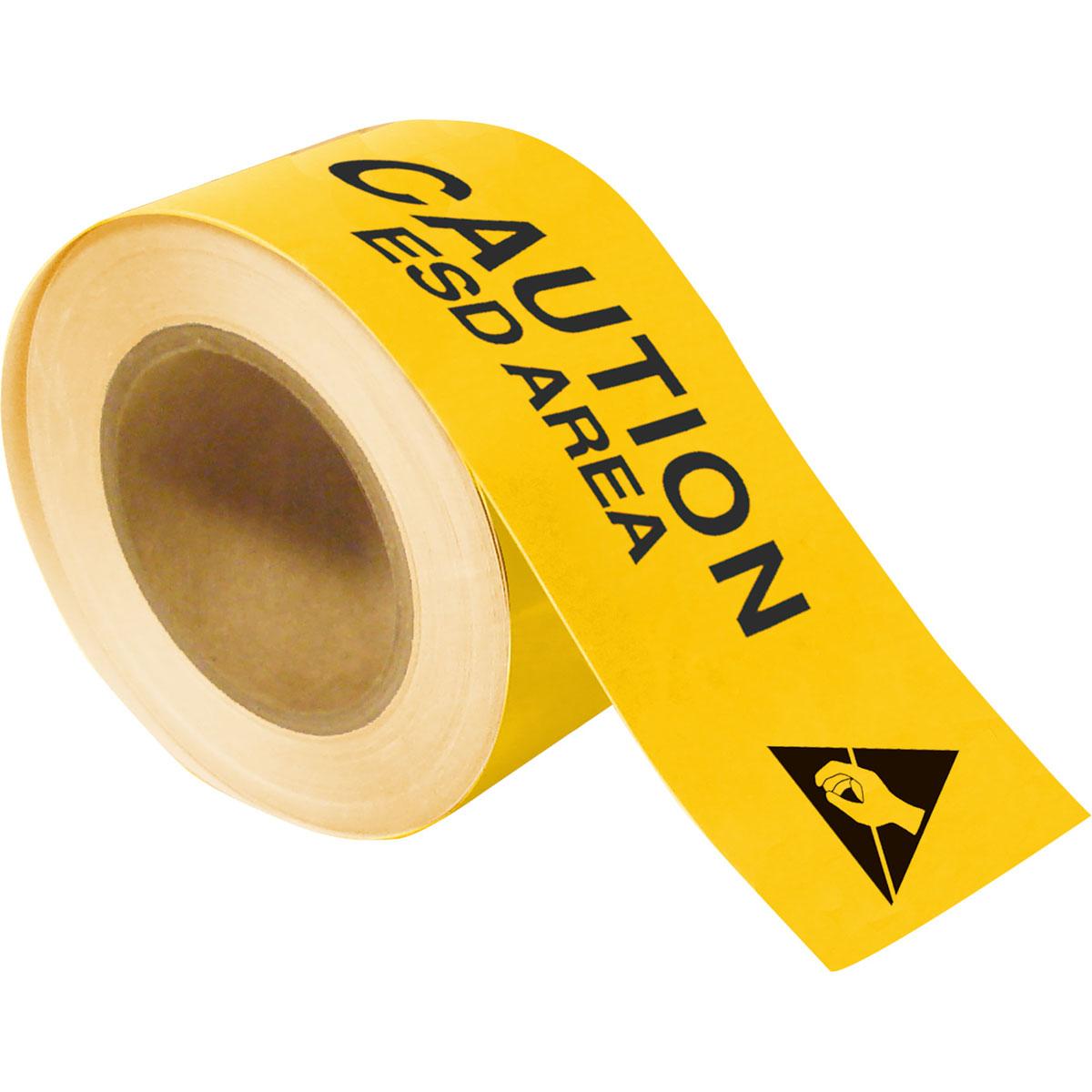 Brady Part: 121368 | ToughStripe CAUTION ESD AREA Floor Tape | BradyID.com