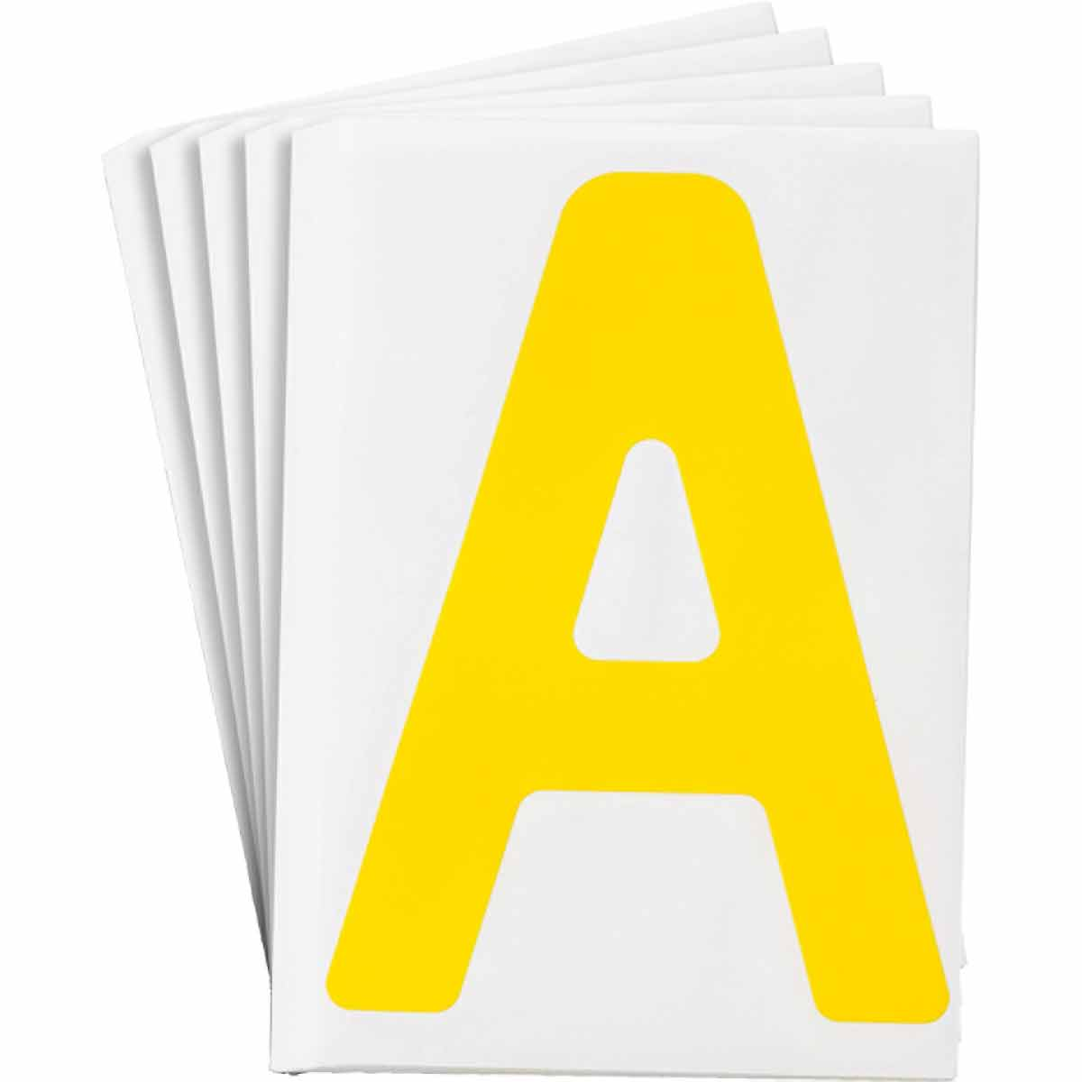 Toughstripe Die Cut Yellow Letter A Numbers And Letters